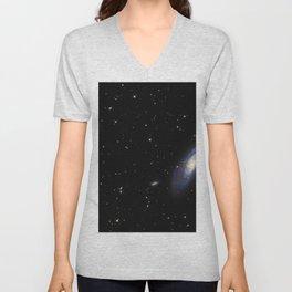 Spiral Galaxy M106 Unisex V-Neck