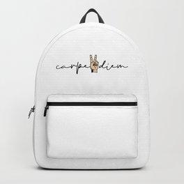 Carpe Diem Two Finger Backpack