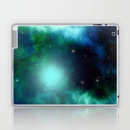 Beautiful Green Nebula filled with Stars Laptop & iPad Skin