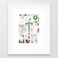 swedish Framed Art Prints featuring swedish midsummer by N Li