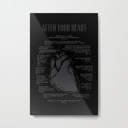 After Your Heart Metal Print