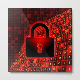 Secure data concept. Metal Print