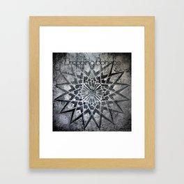 Swirly Spitfire Fly Mandala One Framed Art Print