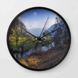 Nant Ffrancon Pass Wall Clock