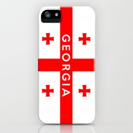 Georgia country flag name text iPhone Case