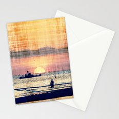 and The world was quiet .... Stationery Cards