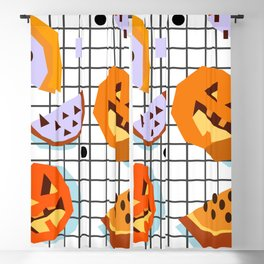 Happy Halloween Pumpkins Blackout Curtain
