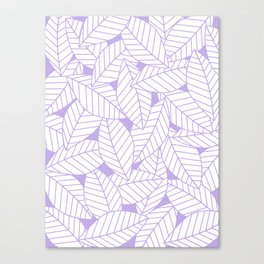 Leaves in Lavender Canvas Print