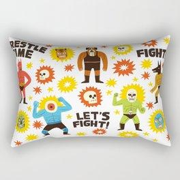 Wrestlers Rectangular Pillow
