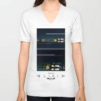 island V-neck T-shirts featuring Island by riz lau