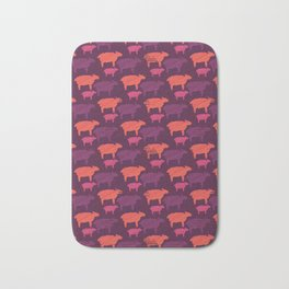 Orange Purple and Pink Colorful Baby Sheep Bath Mat