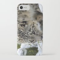 snow leopard iPhone & iPod Cases featuring Snow Leopard by PICSL8