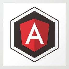 Angular Js developer sticker angularjs javascript framework Art Print