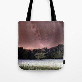 Milky Way Meteor Field Tote Bag