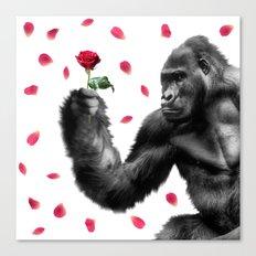 Gorilla In Love Canvas Print