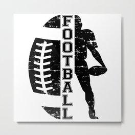 Football Sports Game USA American Team Funny Gift Metal Print