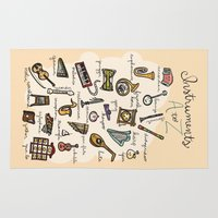 the mortal instruments Area & Throw Rugs featuring Instruments A to Z by Cantabrigia