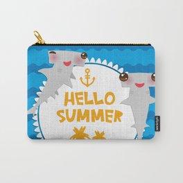 Hello Summer. Kawaii hammerhead shark Carry-All Pouch