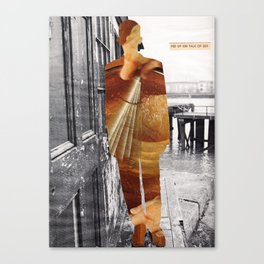 Fed up on talk of sex Canvas Print