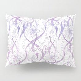 Floral Pattern - Purple Pillow Sham