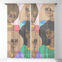 Family Portrait Sheer Curtain
