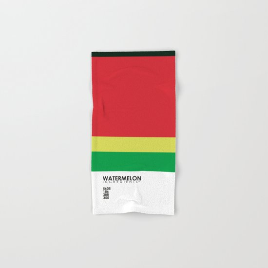 Pantone Fruit - Watermelon Hand & Bath Towel