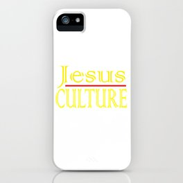 """Jesus Culture"" tee design for your faith and blessed holiday this seasons of giving! Nice gift too! iPhone Case"