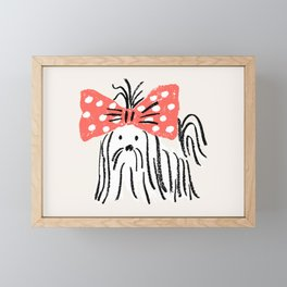 fifi - puppy Framed Mini Art Print
