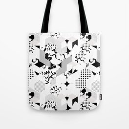 In between the lines and dots Tote Bag