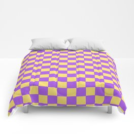 Checkers - Purple and Yellow Comforters