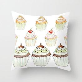 Have a Cupcake! Throw Pillow