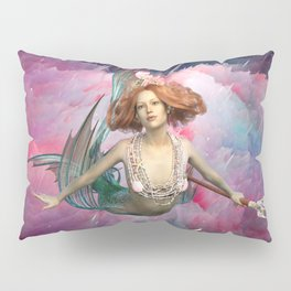 Intergalactic Space Sirens the Universal Flying Mermaids of Our Dreams Pillow Sham