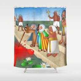 The Plague of Blood Shower Curtain