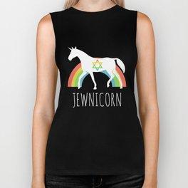 Funny Rainbow Jewnicorn - Jewish Unicorn Biker Tank