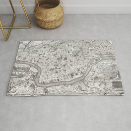 Vintage Map of Rome Italy (1721) 2 Rug