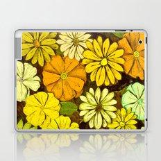 Abstract #417 Flower Power #5 Mellow Yellow Laptop & iPad Skin