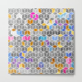 Watercolor Kaleidoscope. Mosaic. Metal Print
