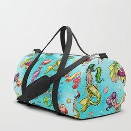 Watercolor Mermaids Duffle Bag