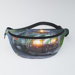 North American Freight Train coming out of a Tunnel Fanny Pack