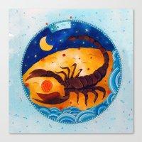 scorpio Canvas Prints featuring Scorpio by Sandra Nascimento