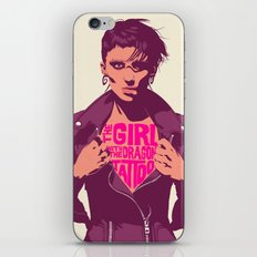 THE GIRL WITH THE DRAGON TATTOO iPhone & iPod Skin
