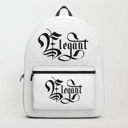 Elegant Lettering Gothic Backpack