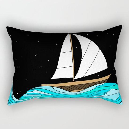 Night Sea Rectangular Pillow