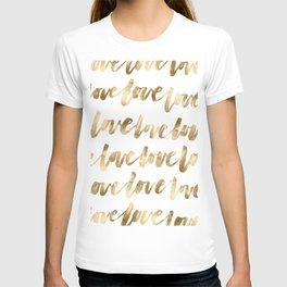 Gold Love T-shirt