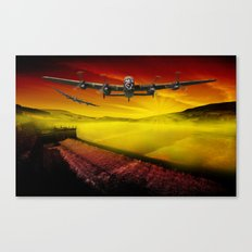 Lancasters over Woodhead Canvas Print