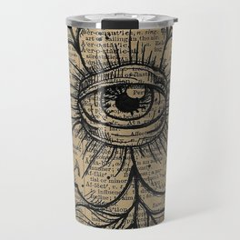 Flower with Eye: Beauty is in the Eye... Travel Mug