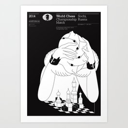 World Chess Championship Match Art Print