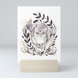 Garden Cat Mini Art Print
