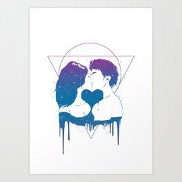Cosmic love (color version) Art Print