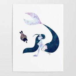Arctic Mermaid Poster